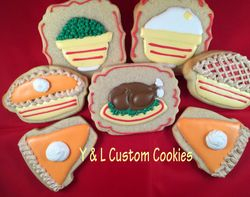 Thanksgiving Dinner Cookies