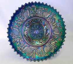 "Fanciful 9"" plate, blue"