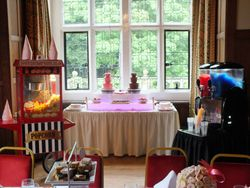Candy Buffet, Popcorn, Twin chocolate fountain and slush machine party package hire