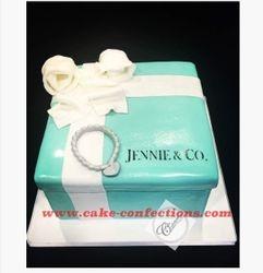 Tiffany & Co. Themed Gift Box Cake