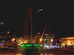 Another shot of Victoria Square (Christchurch) at night
