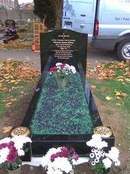 Black granite full memorial