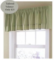 Sage Soft Linen Lined Tailored Valance