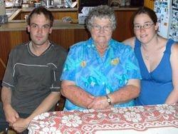 Brett, Mum & Carly Christmas Day 2008