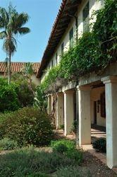 Santa Barbara Mission Courtyard 2