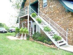 Deck, Arbor, Staircase & Ferns