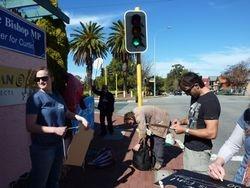 Super Trawler Protest at Julie Bishops Office