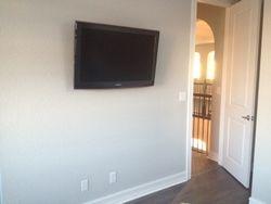 TV mounted on flat mount