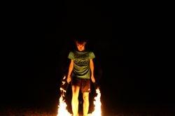 Walking on Flames