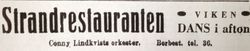 Strandrestauranten i Viken 1937