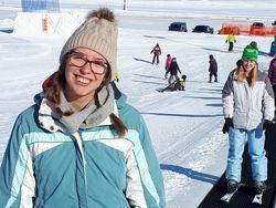 Church family skiing