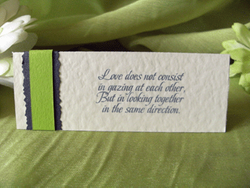 Lime Placecard Back