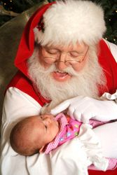 Santa and a brand new 'customer'