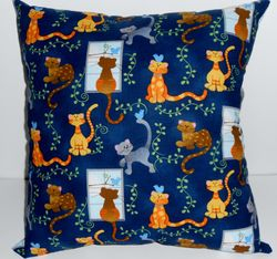 Cool Cats pillow on Etsy SOLD