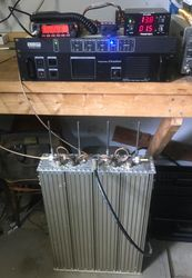 Portable repeater in test configuration