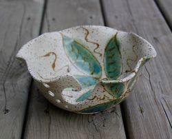 Turquoise Flower Bowl