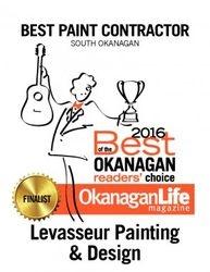 2016  Okanagan Life Magazine ...Best Painting Contractor (South Okanagan)