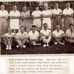 Batemans Bay Cricket Team, 1950