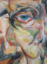 Freud study - oil pastels