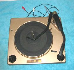 A vintage 1960 high-quality Curtis Mathes Turntable.