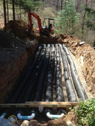 AES Pipes Installed in Serial Distribution