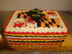 30 serving photo decal cake with fondant grad cap $150