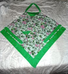 Green & pink apron - SOLD
