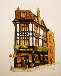Coach & Horses Tavern Bruton Pl. London