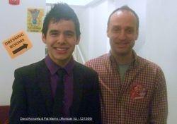 David Archuleta & Pat Marino David Archuleta (Montclair NJ Dec 2009)