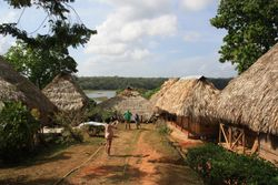 Houses at Embera Indigenous Village