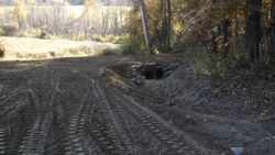 Forest road drainage