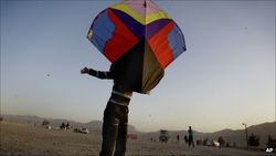 Large Afghani Kite ready for take off!