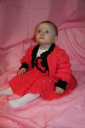 """""""Pink Set"""" Baby Dress and Sweater"""
