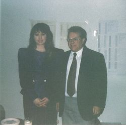 Sherry with her teacher, Lucien Joel