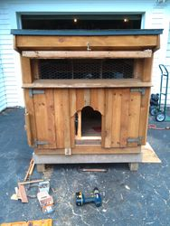 small chicken coop - front view