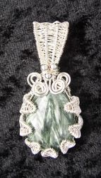 Wire Woven Seraphanite in Sterling Silver