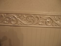 chair rail faux finishes to match vanity