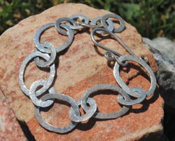 Hammered Sterling bracelet