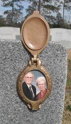 Ceramic Photo with a Bronze Flip Lid Frame