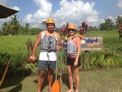 beautiful rice fields trek before rafting tour