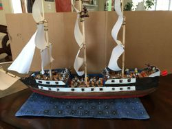 Full view of scratch built ship by Joe Carvalho