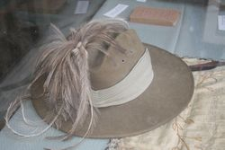 An original hat on show at the heritage museum in the Christchurch, Old Jerusalem