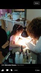 Antonella working hard on nail art!