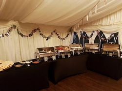 Indian buffet hire in Leeds catering for 140 guests.