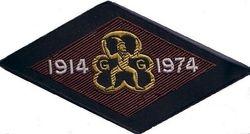 1974 Brownie Anniversary Ribbon Badge - diamond