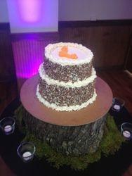 Groom's 2 tier Carrot Cake