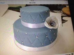 Gray & White Wedding Cake