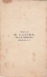 H. Lazier, photographer of Syracuse, NY