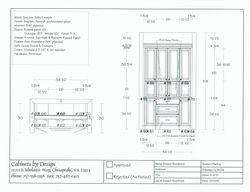 Butler's Pantry Plan & Elevation