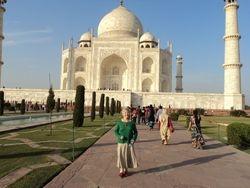 Kathleen and Taj Mahal